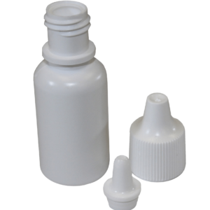 Bottle Empty  white 15ml capacity -control tip-white cap- blank