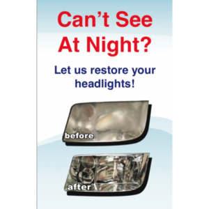 Headlight Restoration Point-of-Sale Display